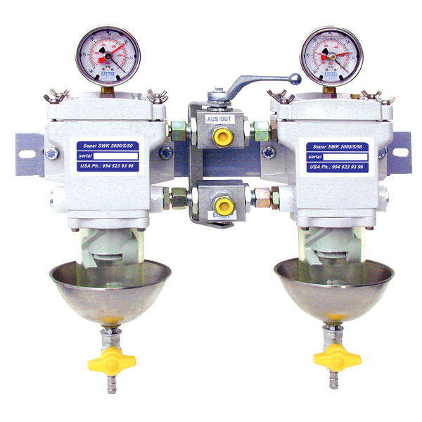 SWK-2000-5-50 Duplex, Clear Bowl with Metal Heat Deflector