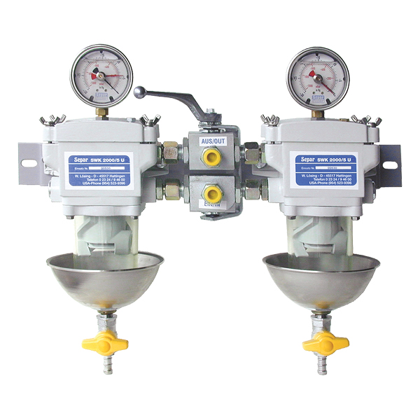 SWK-2000-5 Duplex, Clear Bowl with Metal Heat Deflector